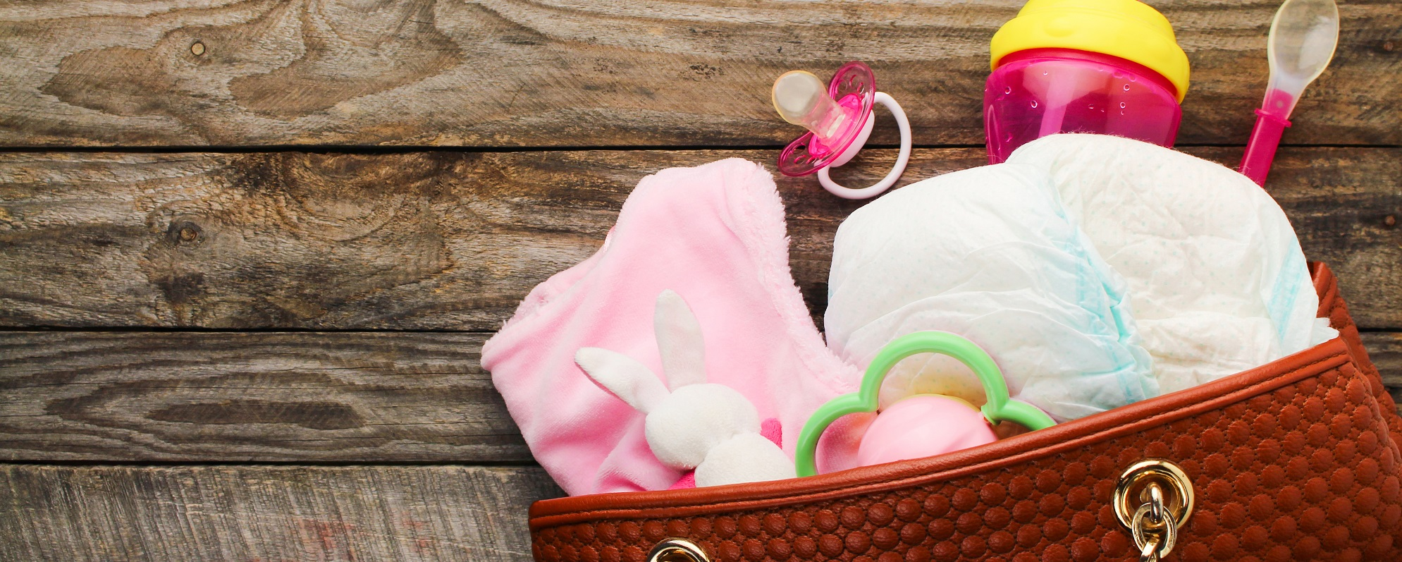 bag with the things for a newborn