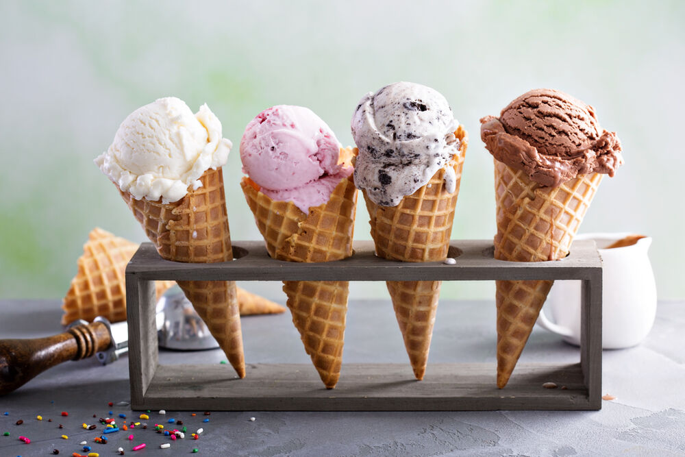 4 Ice creams as representations of various types of vaginal discharge