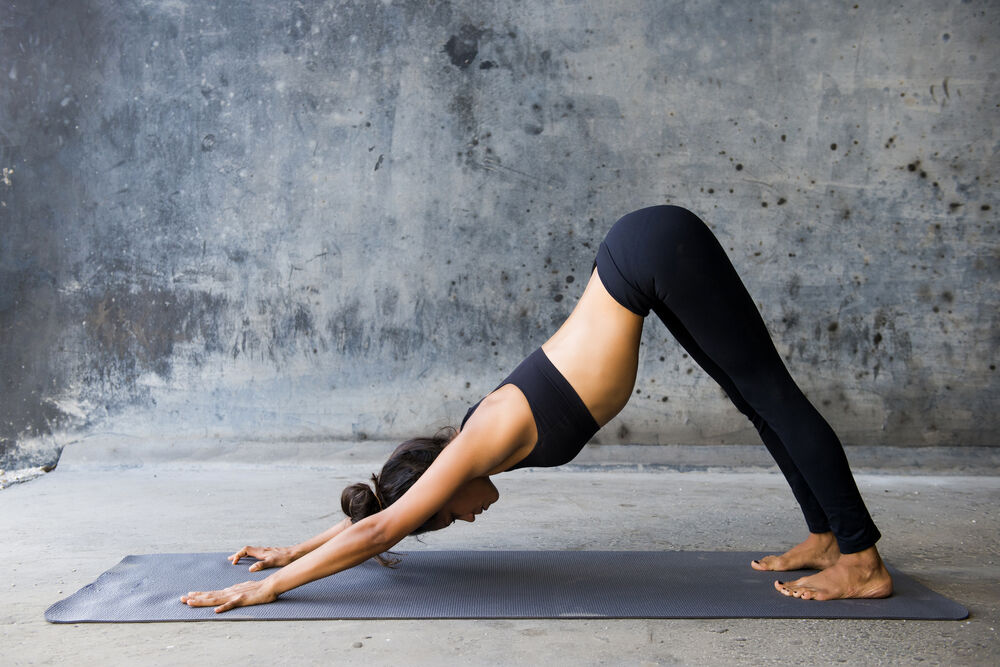 Downward facing dog - of the best exercises for lower back pain