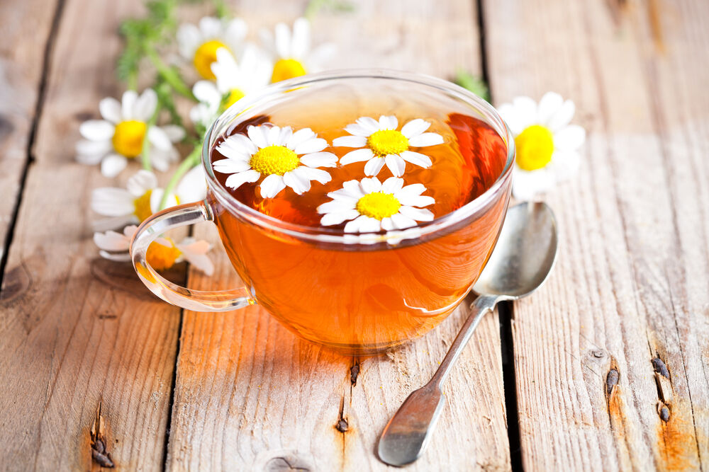 chamomile tea to fight cramps