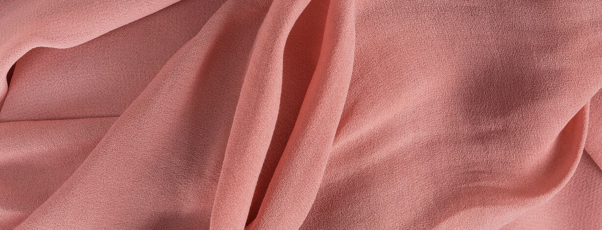 Pink fabric looking like female labia