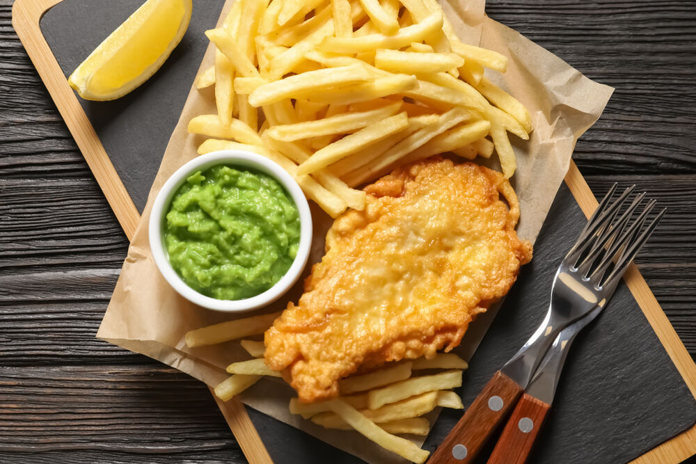 Fish and chips - a low sodium fast food option you can cook at home